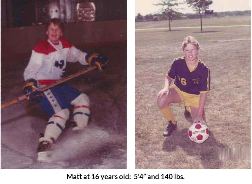 Matt at 16 years old